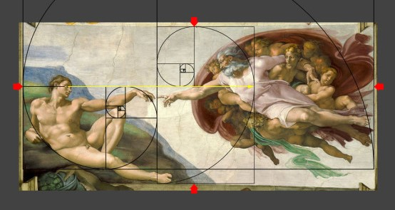 Golden Spiral in Painting