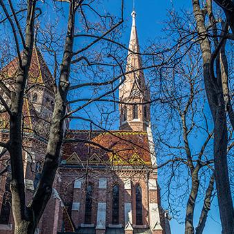 Calvinist Church in Szilágyi Dezső square, architect: Samu Pecz